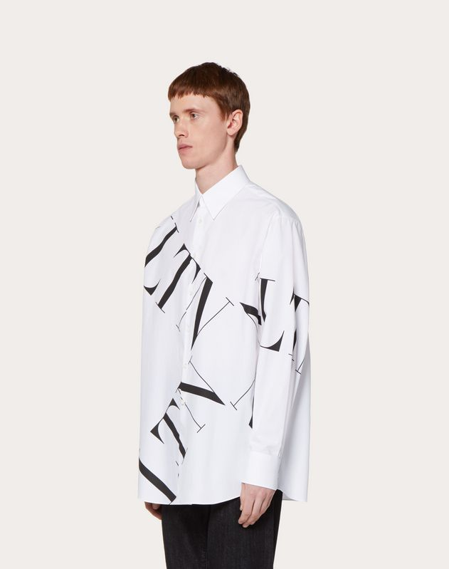 OVERSIZED SHIRT WITH VLTN MACROGRID