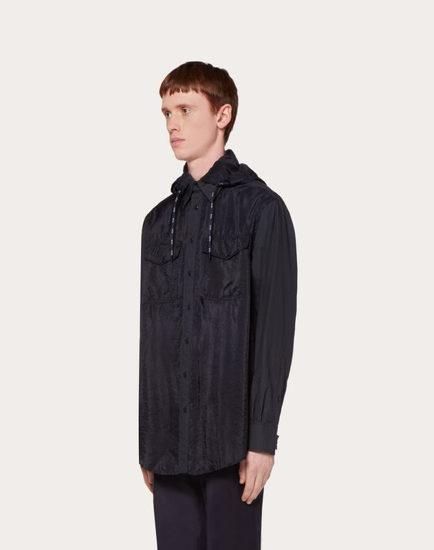 NYLON SHIRT WITH VLTN DRAWSTRING