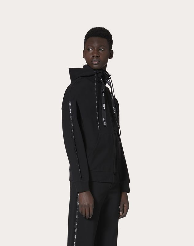 VLTN SWEATSHIRT WITH HOOD AND ZIP