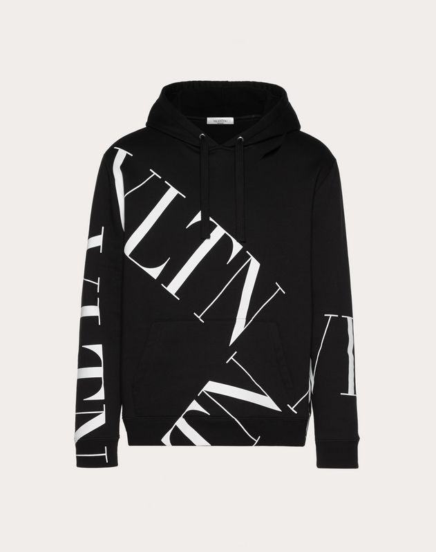VLTN MACROGRID HOODED SWEATSHIRT