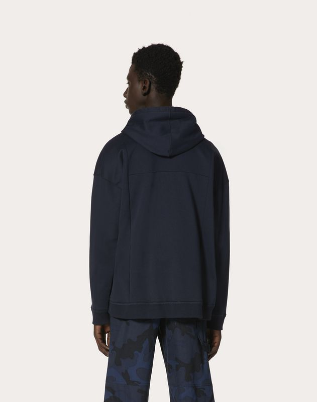 VLOGO HOODED SWEATSHIRT WITH ZIPPER