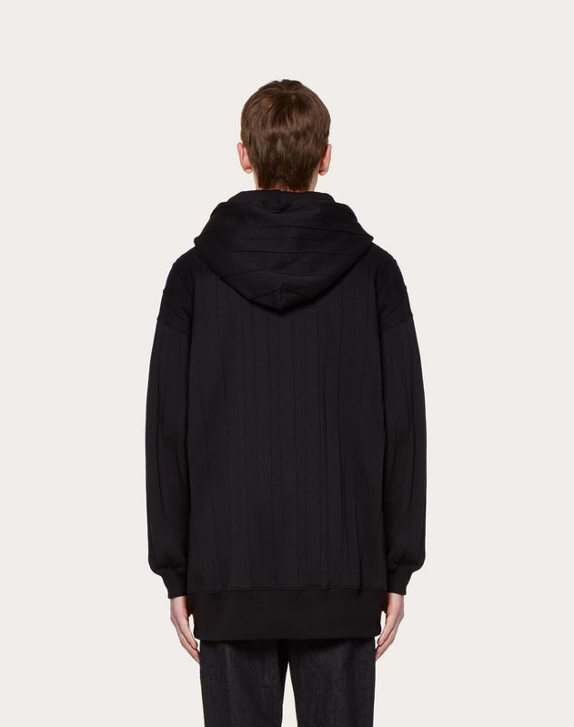 HOODED SWEATSHIRT WITH PLEATS