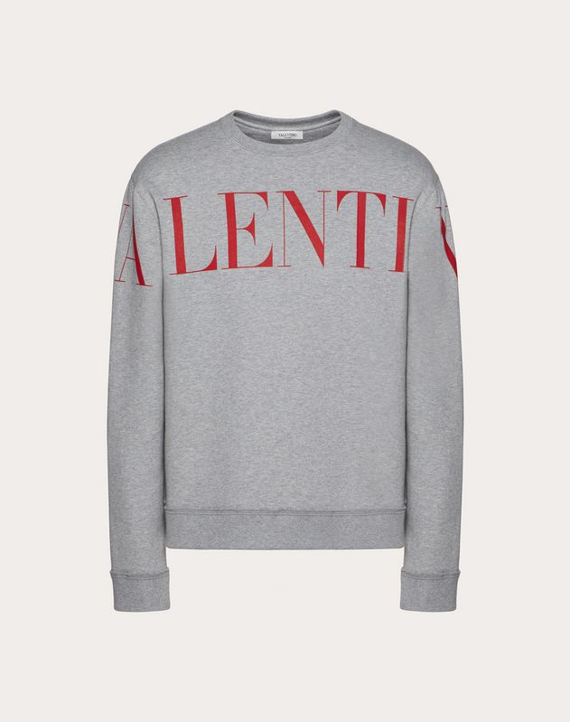 CREW-NECK SWEATSHIRT WITH VALENTINO PRINT