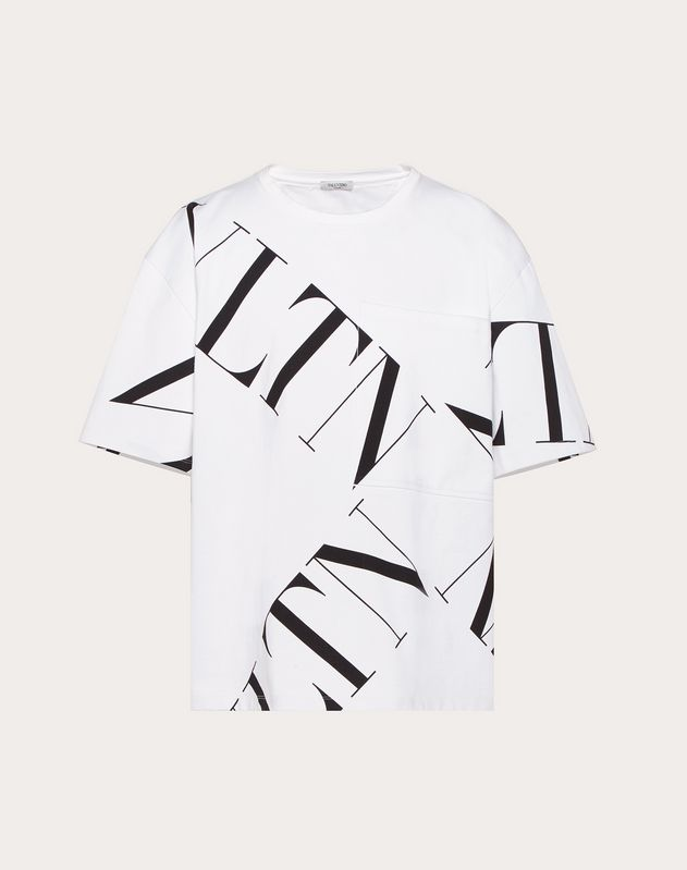 OVERSIZED T-SHIRT WITH VLTN MACROGRID