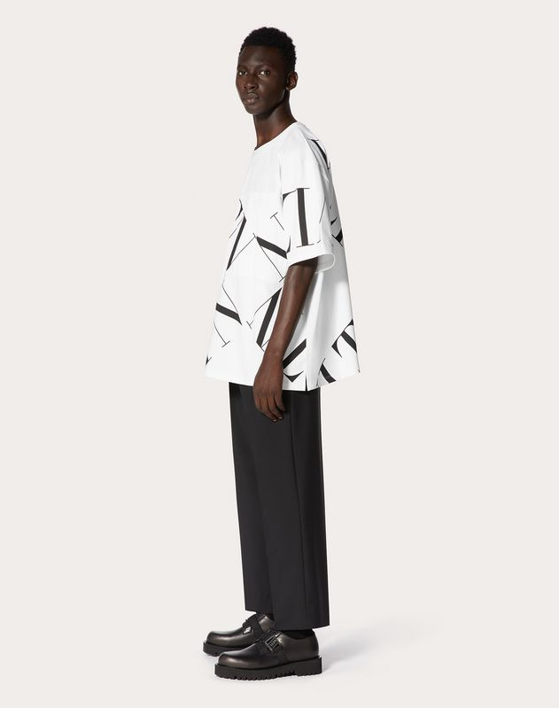 OVERSIZE T-SHIRT WITH VLTN MACROGRID