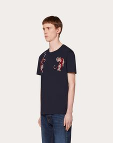 T-SHIRT WITH GO TIGER PATCH