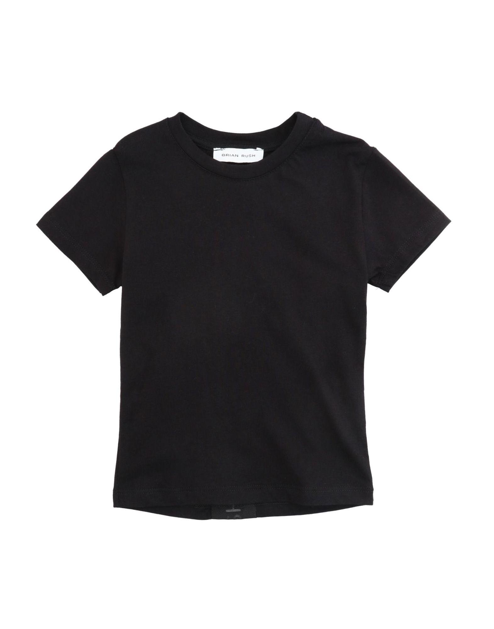 Brian Rush Kids' T-shirts In Black
