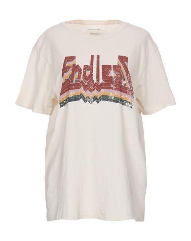 Фото - Женскую футболку ISABEL MARANT ÉTOILE цвет слоновая кость