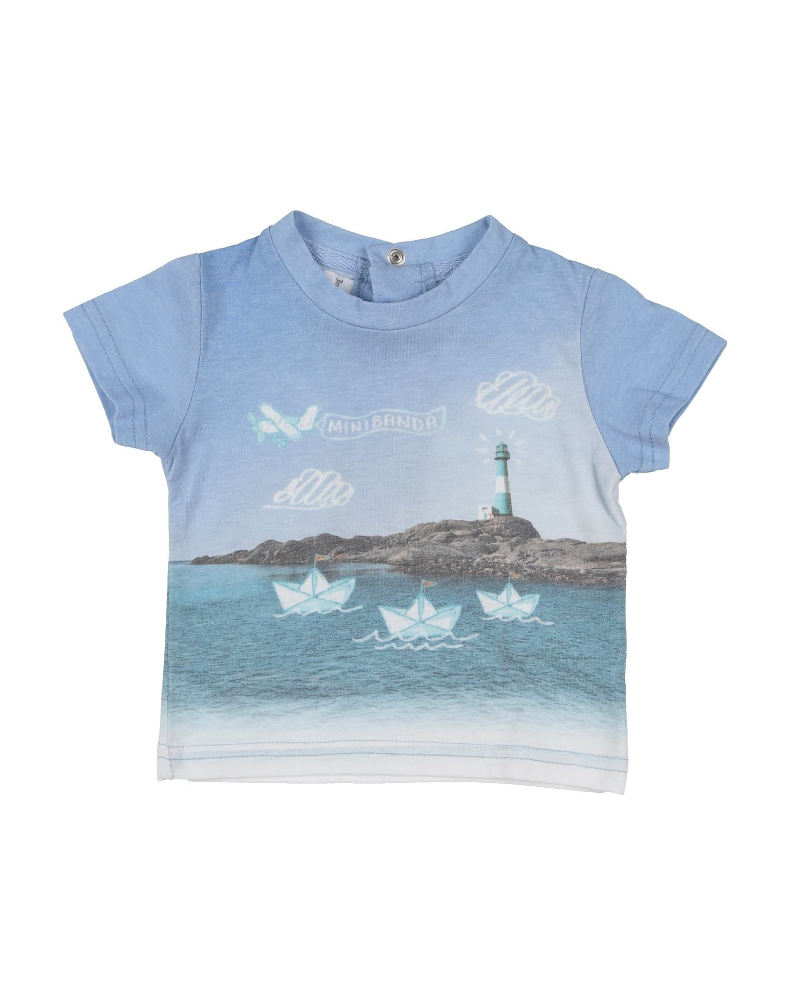 Minibanda By Sarabanda Kids' T-shirts In Blue