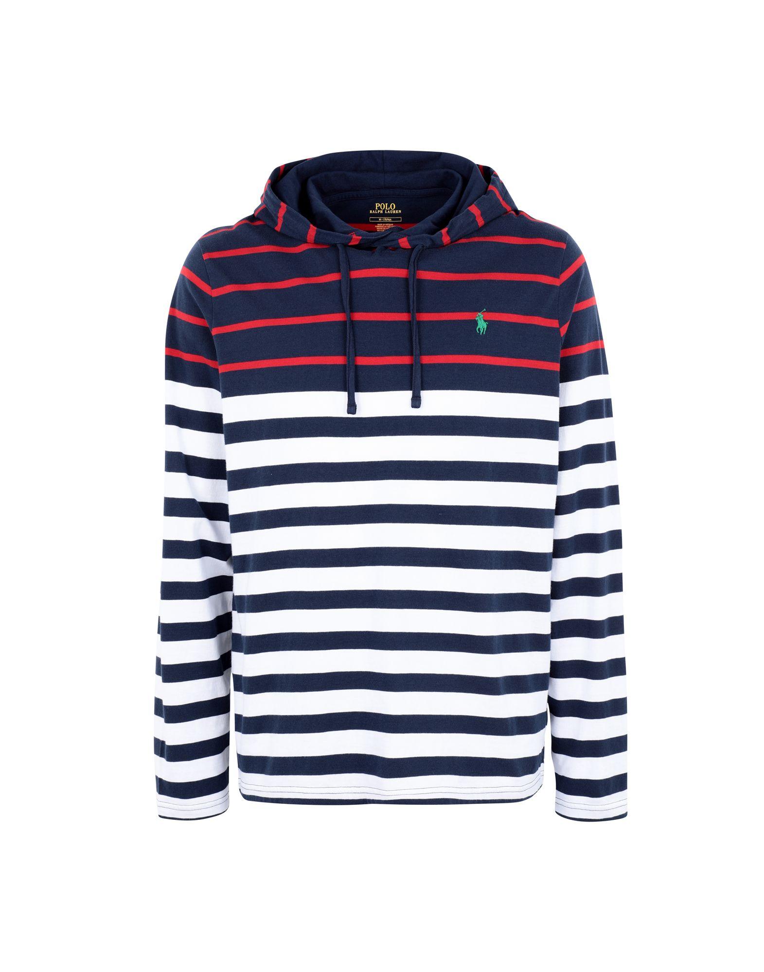 《期間限定セール中》POLO RALPH LAUREN メンズ T シャツ ダークブルー XS コットン 100% Striped Cotton Hooded Tee