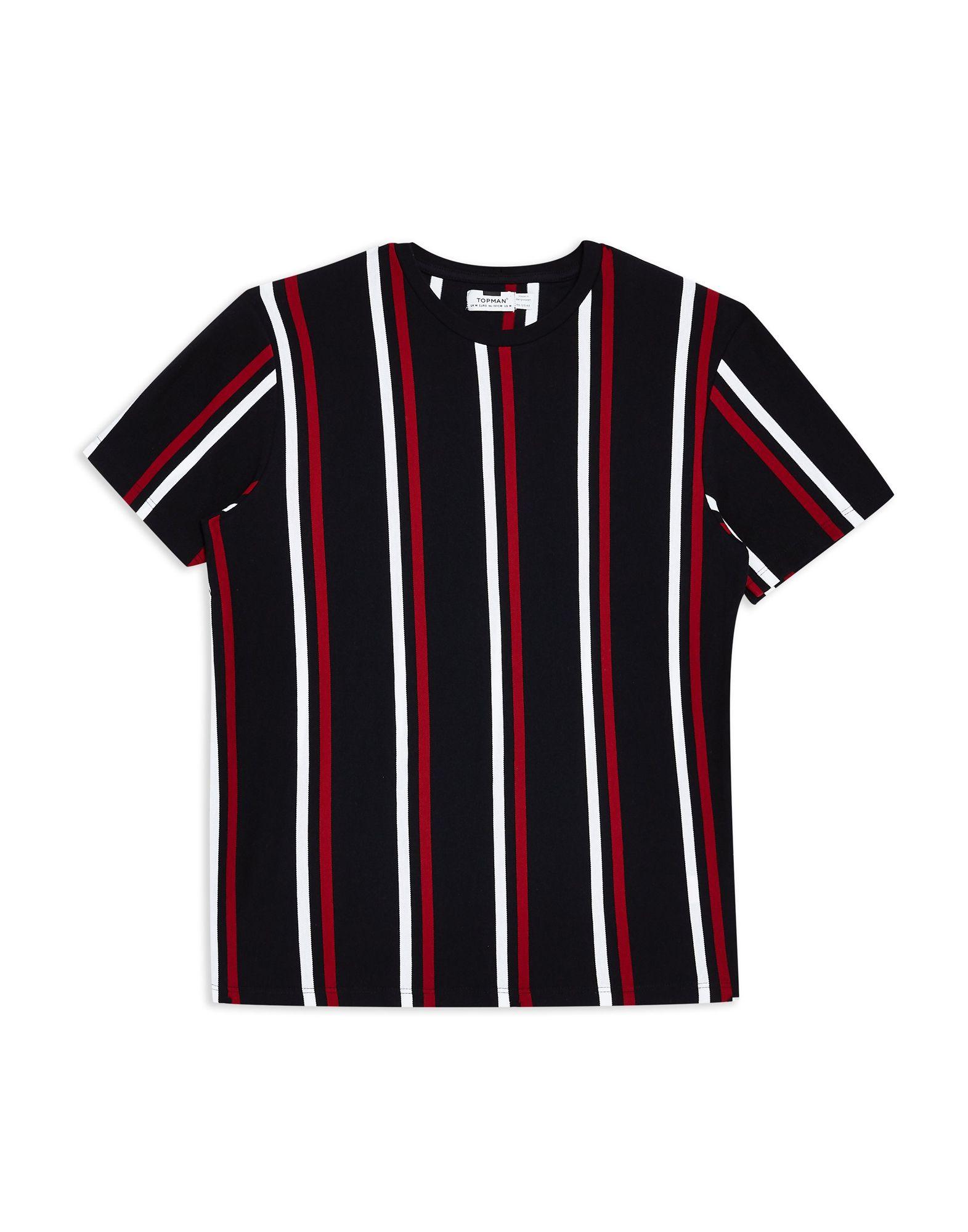 《期間限定セール開催中!》TOPMAN メンズ T シャツ ダークブルー S コットン 100% Navy Striped T-Shirt