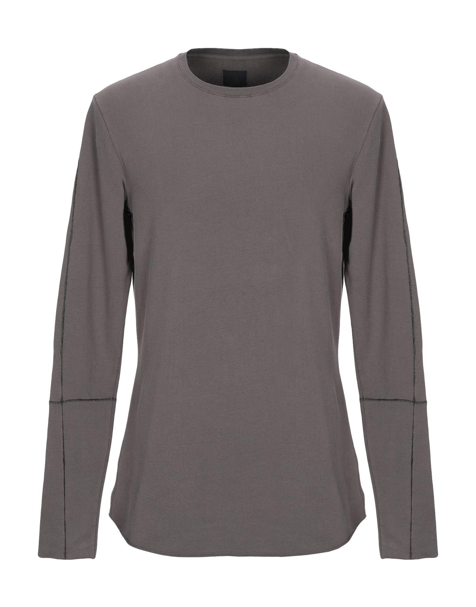 《セール開催中》THOM KROM メンズ スウェットシャツ 鉛色 S コットン 95% / ポリウレタン 5%