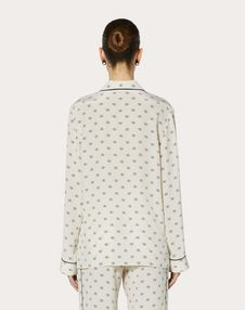 MINI VLOGO CREPE DE CHINE PYJAMA SHIRT