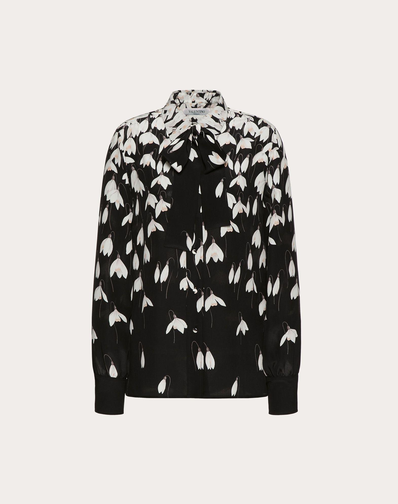 Crêpe de Chine Snowdrop Shirt