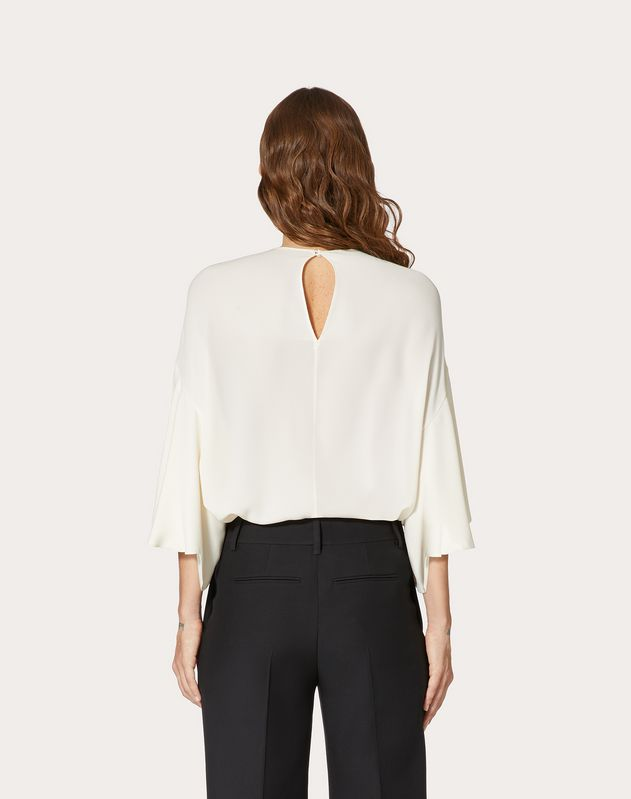 GEORGETTE TOP WITH SCALLOP DETAIL