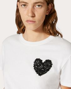 EMBELLISHED COTTON JERSEY T-SHIRT