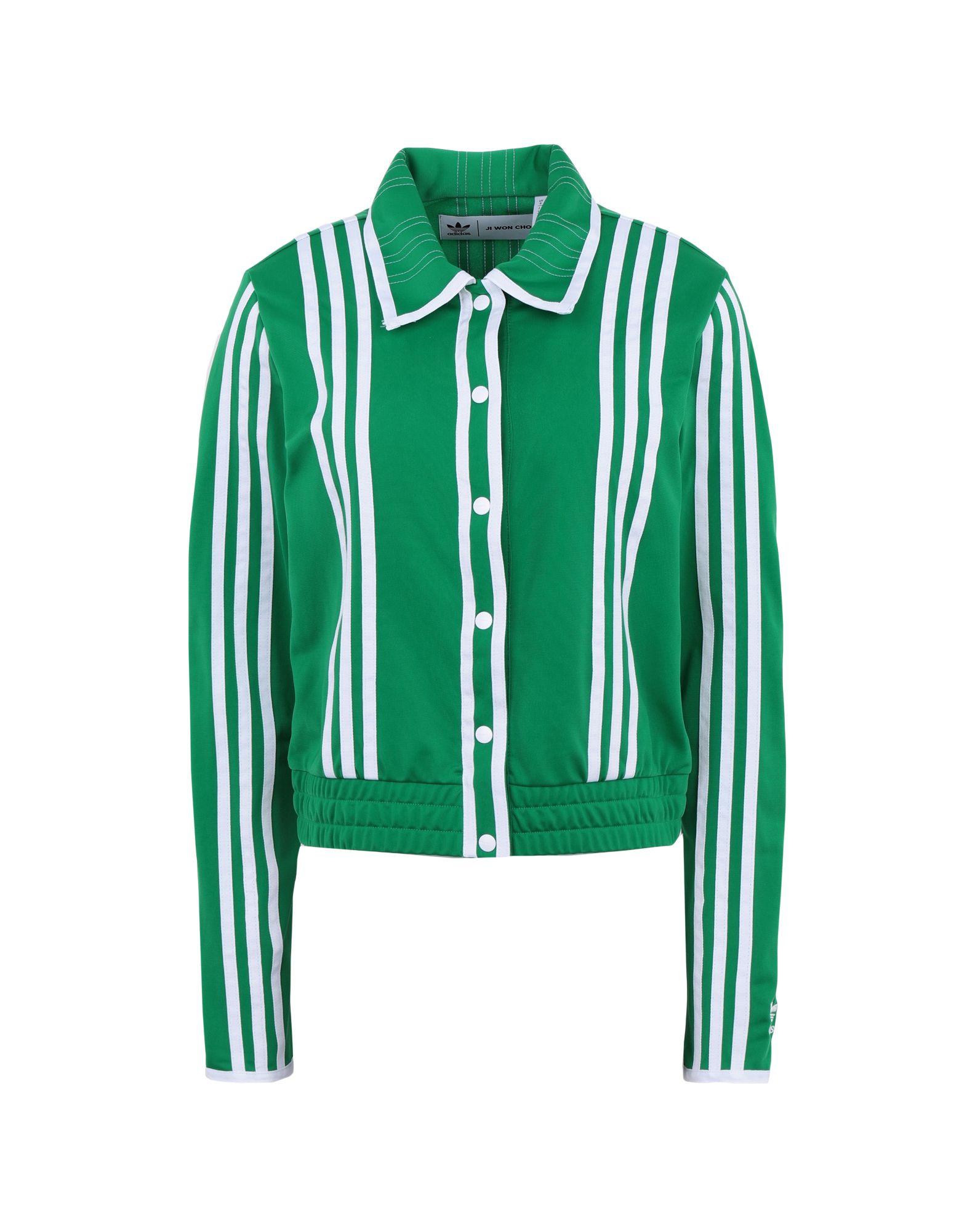 《期間限定 セール開催中》ADIDAS ORIGINALS x JI WON CHOI レディース スウェットシャツ グリーン 32 リサイクルポリエステル 100% TRACKTOP