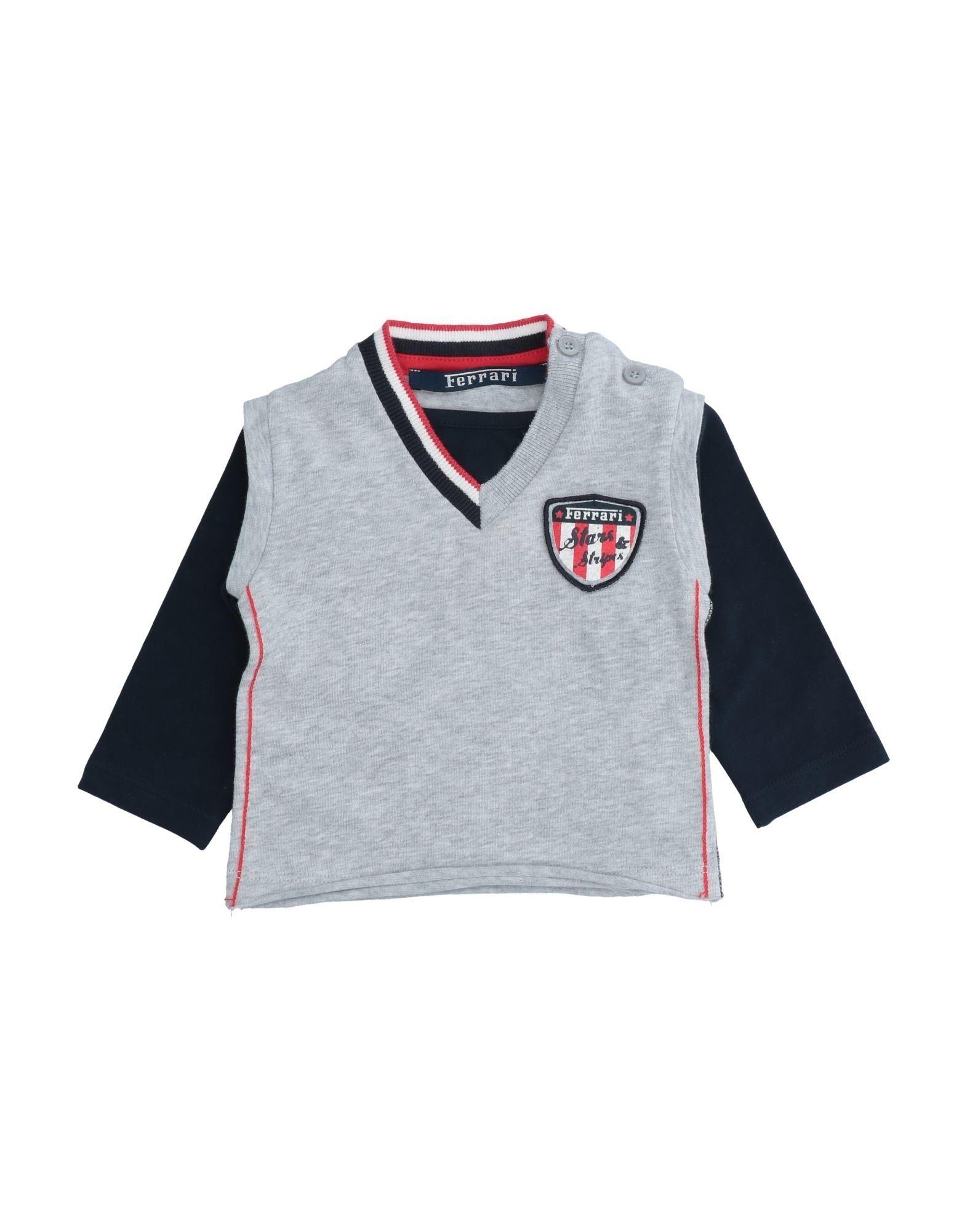 Ferrari Kids' T-shirts In Gray