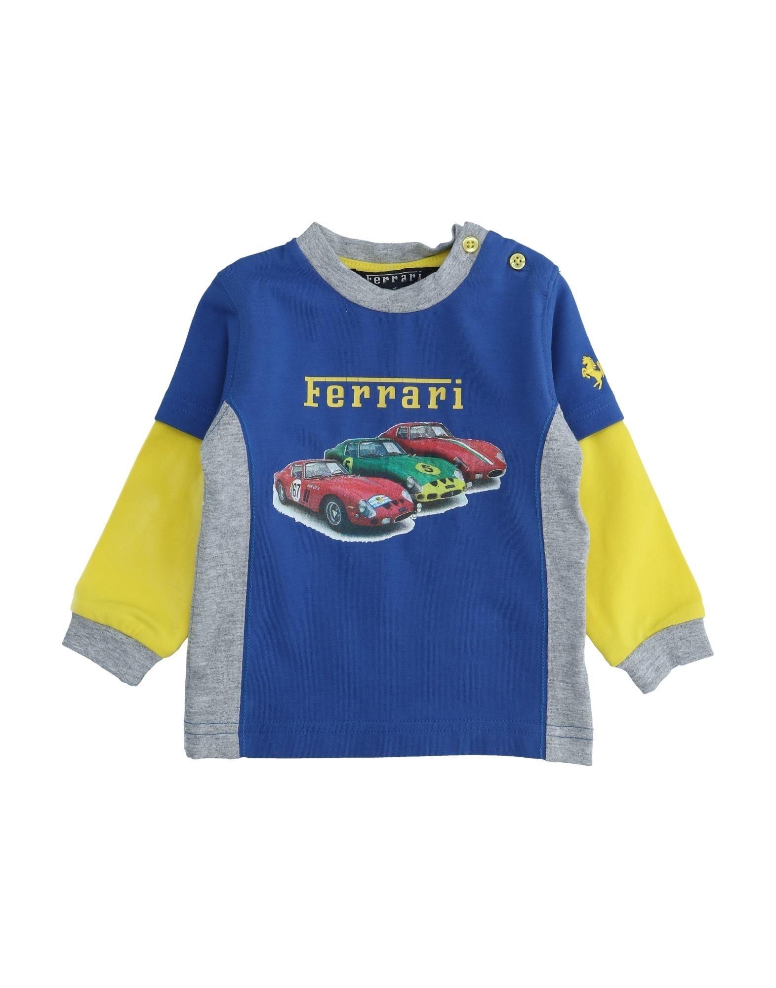Ferrari Kids' T-shirts In Blue