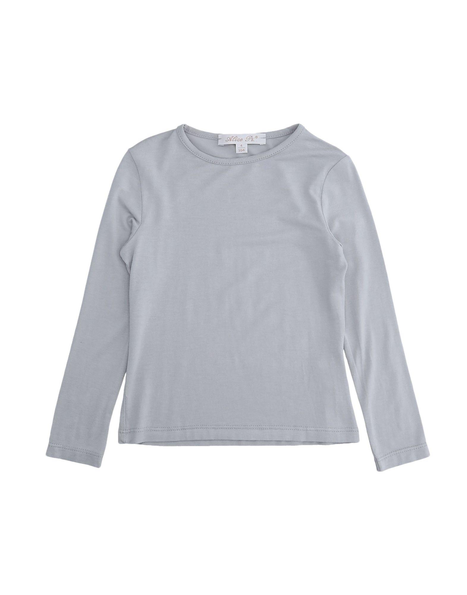 Alice Pi. Kids' T-shirts In Grey