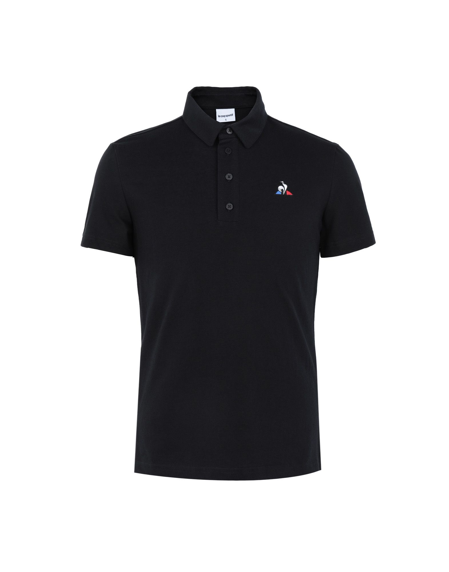 《セール開催中》LE COQ SPORTIF メンズ ポロシャツ ブラック S コットン 100% ESS Polo SS N°1