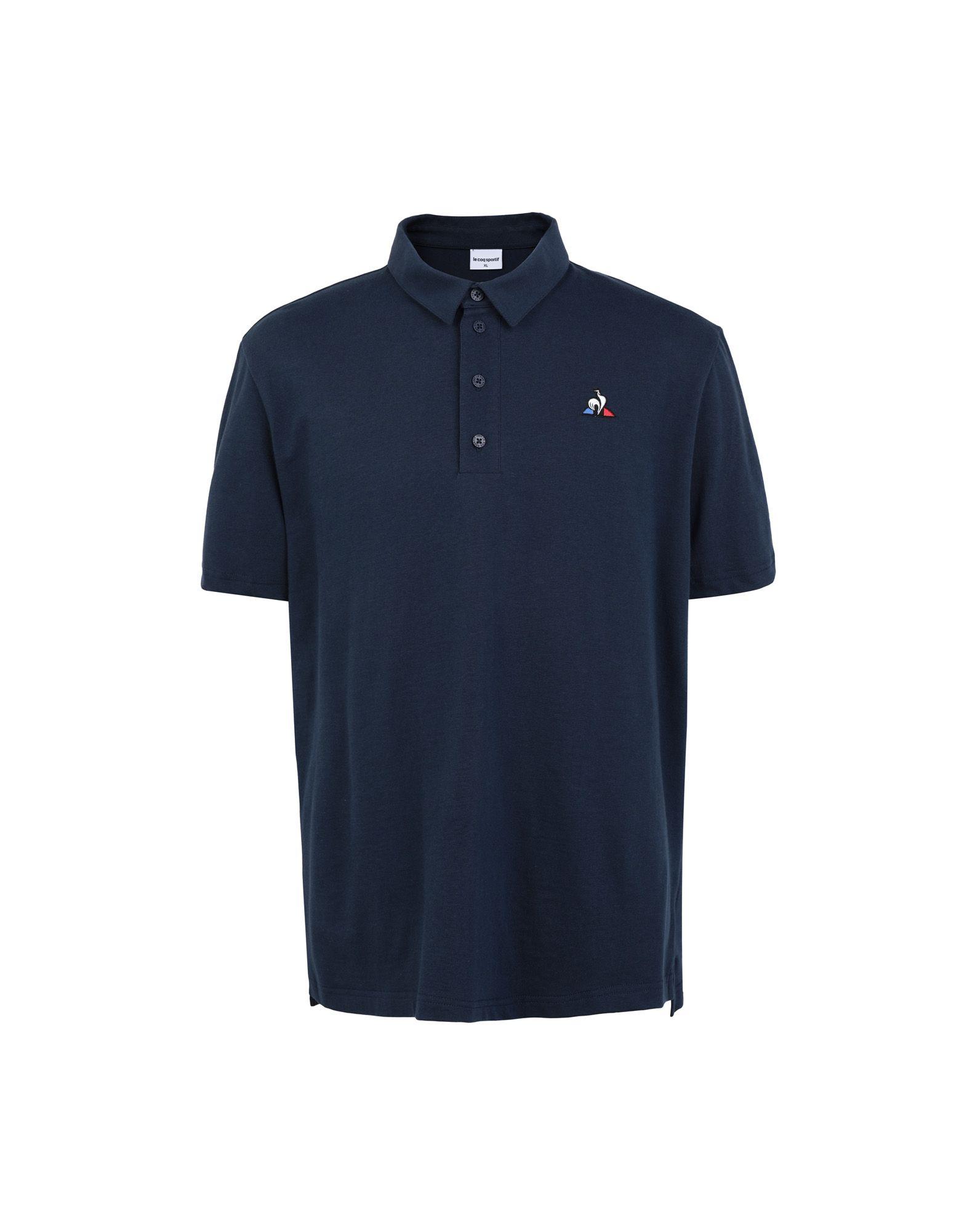 《セール開催中》LE COQ SPORTIF メンズ ポロシャツ ダークブルー S コットン 100% ESS Polo SS N°1