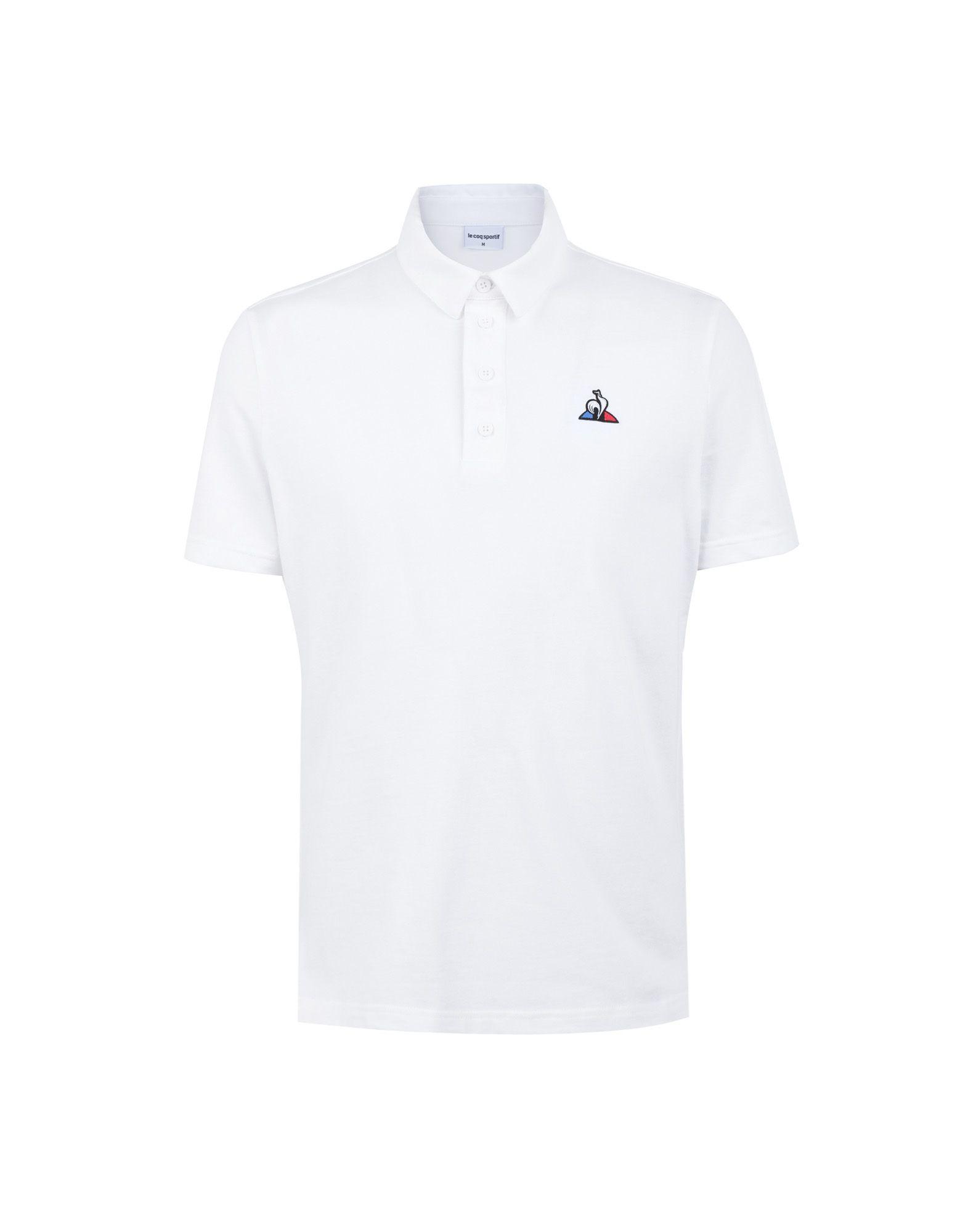 《セール開催中》LE COQ SPORTIF メンズ ポロシャツ ホワイト S コットン 100% ESS Polo SS N°1
