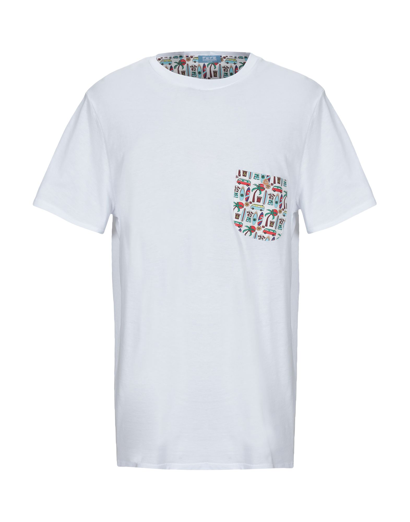 《送料無料》FEF? GLAMOUR POCHETTE メンズ T シャツ ホワイト XL コットン 100%