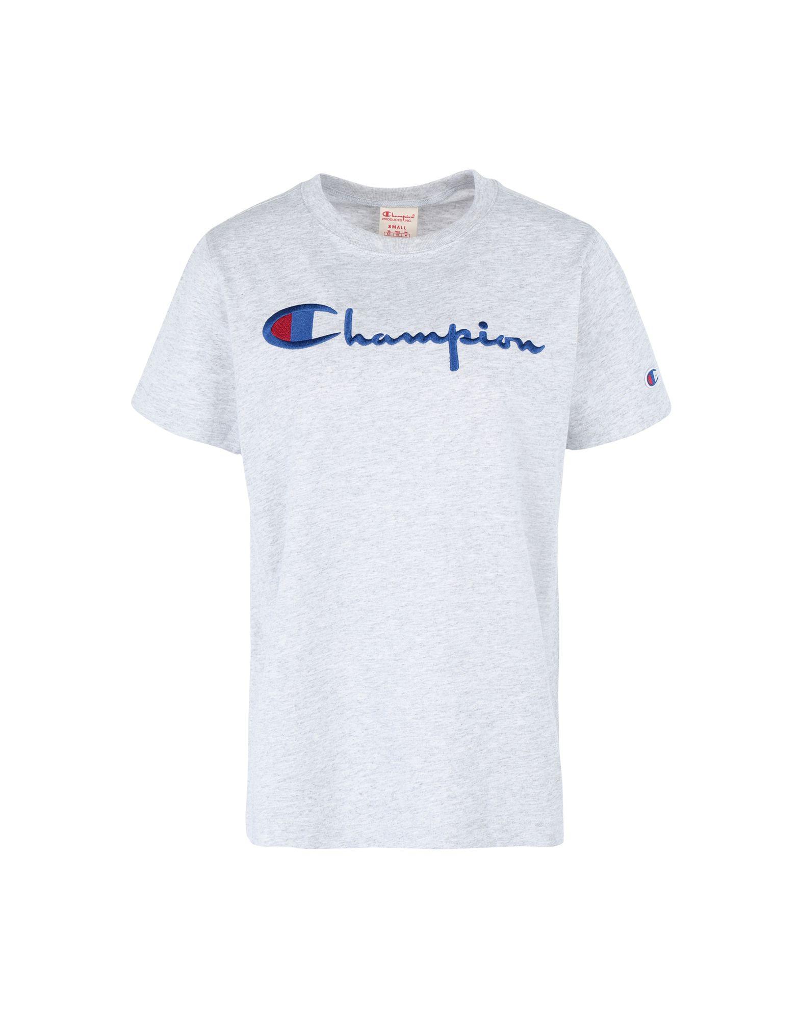 《セール開催中》CHAMPION REVERSE WEAVE レディース T シャツ ライトグレー XS コットン 100% Crewneck T-Shirt