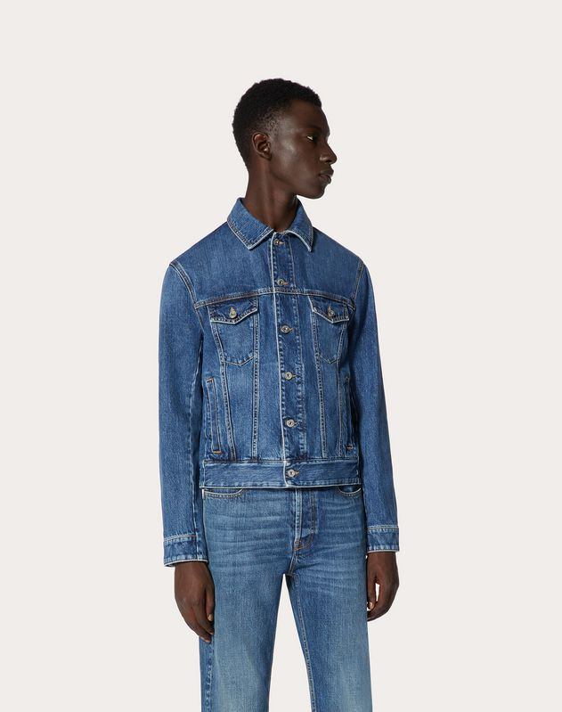 VLTN DENIM BLOUSON WITH SELVAGE