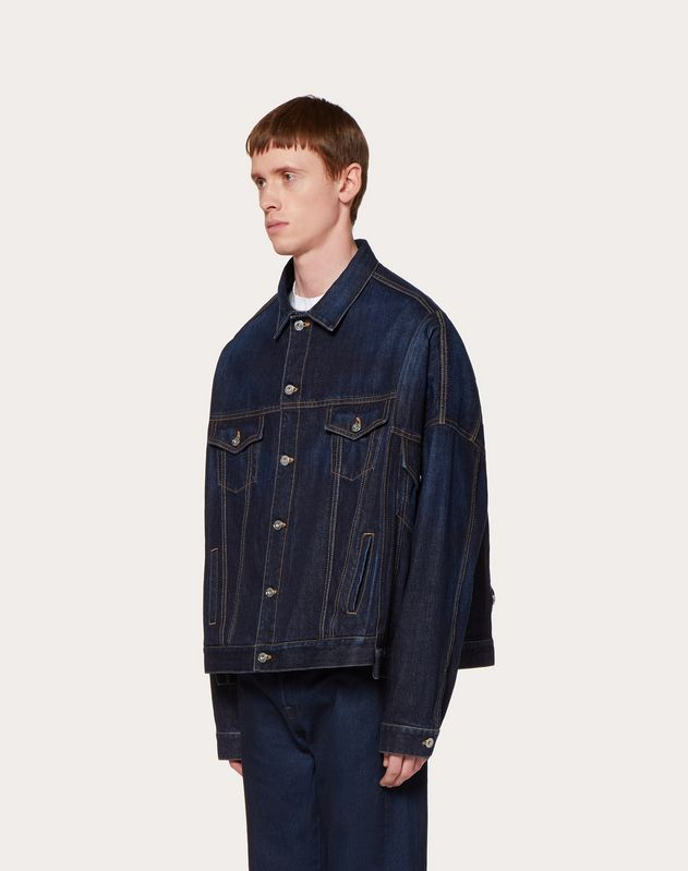 VLTN OVERSIZE DENIM JACKET WITH SELVAGE