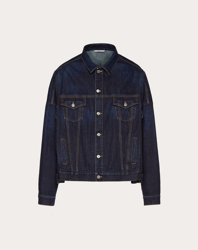 VLTN OVERSIZED DENIM JACKET WITH SELVEDGE