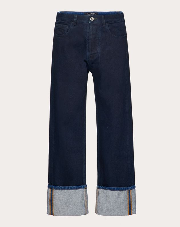 BAGGY JEANS WITH VLOGO PRINT