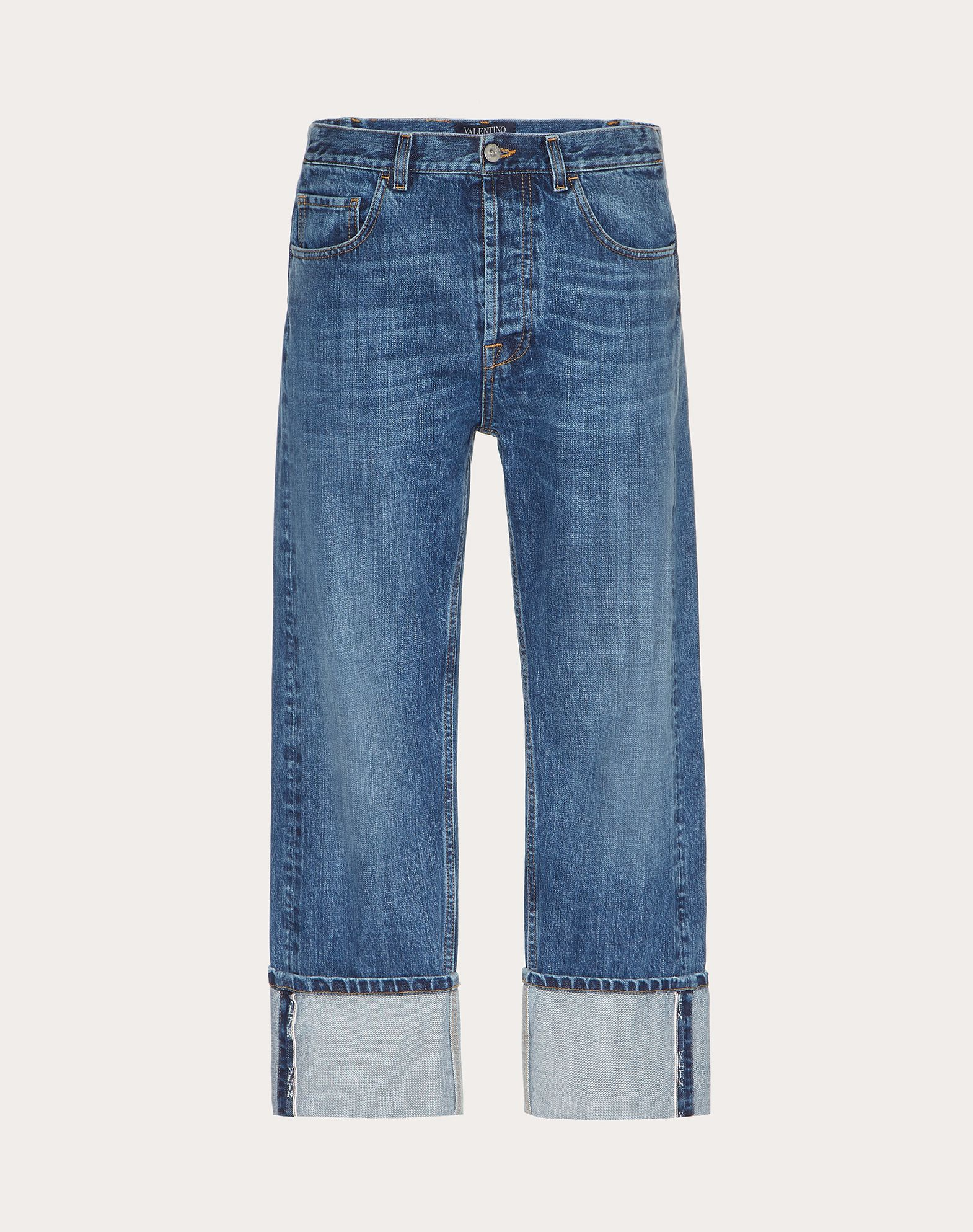 BAGGY JEANS WITH VLTN SELVEDGE