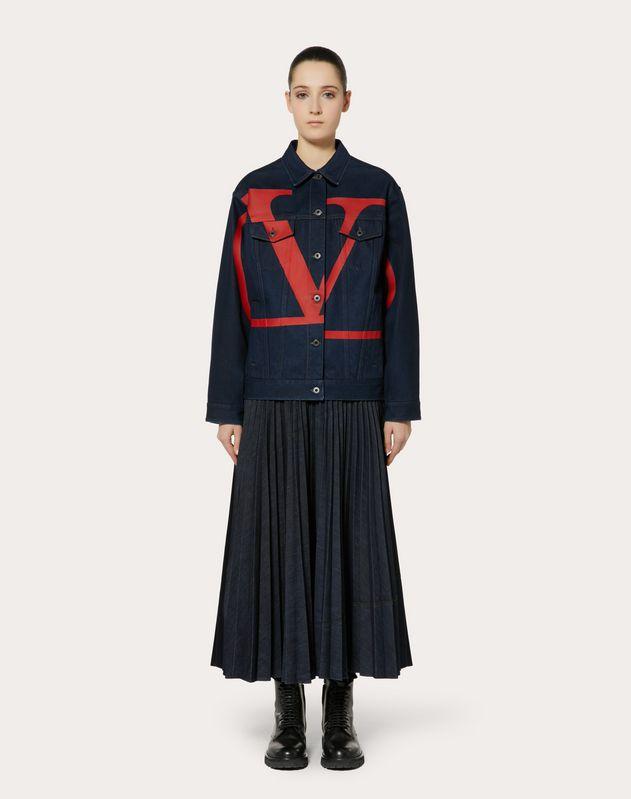 Vロゴ デニムジャケット