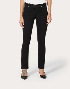Чёрные джинсы с принтом VLTN