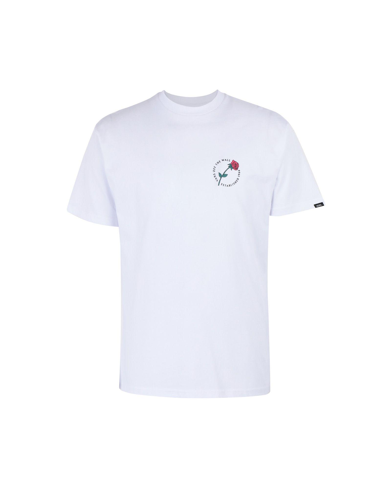 《期間限定セール中》VANS メンズ T シャツ ホワイト S コットン 100% MN COMING UP ROSES SS