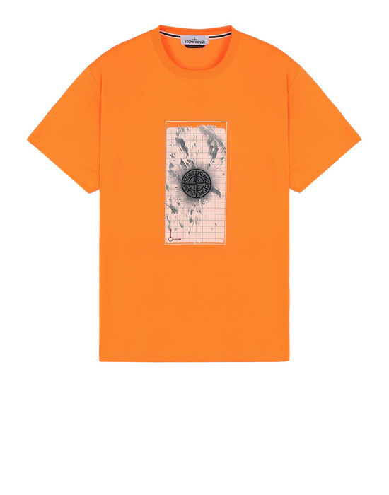 STONE ISLAND T-Shirt 2NS82 'GRAPHIC FIVE' FLUO