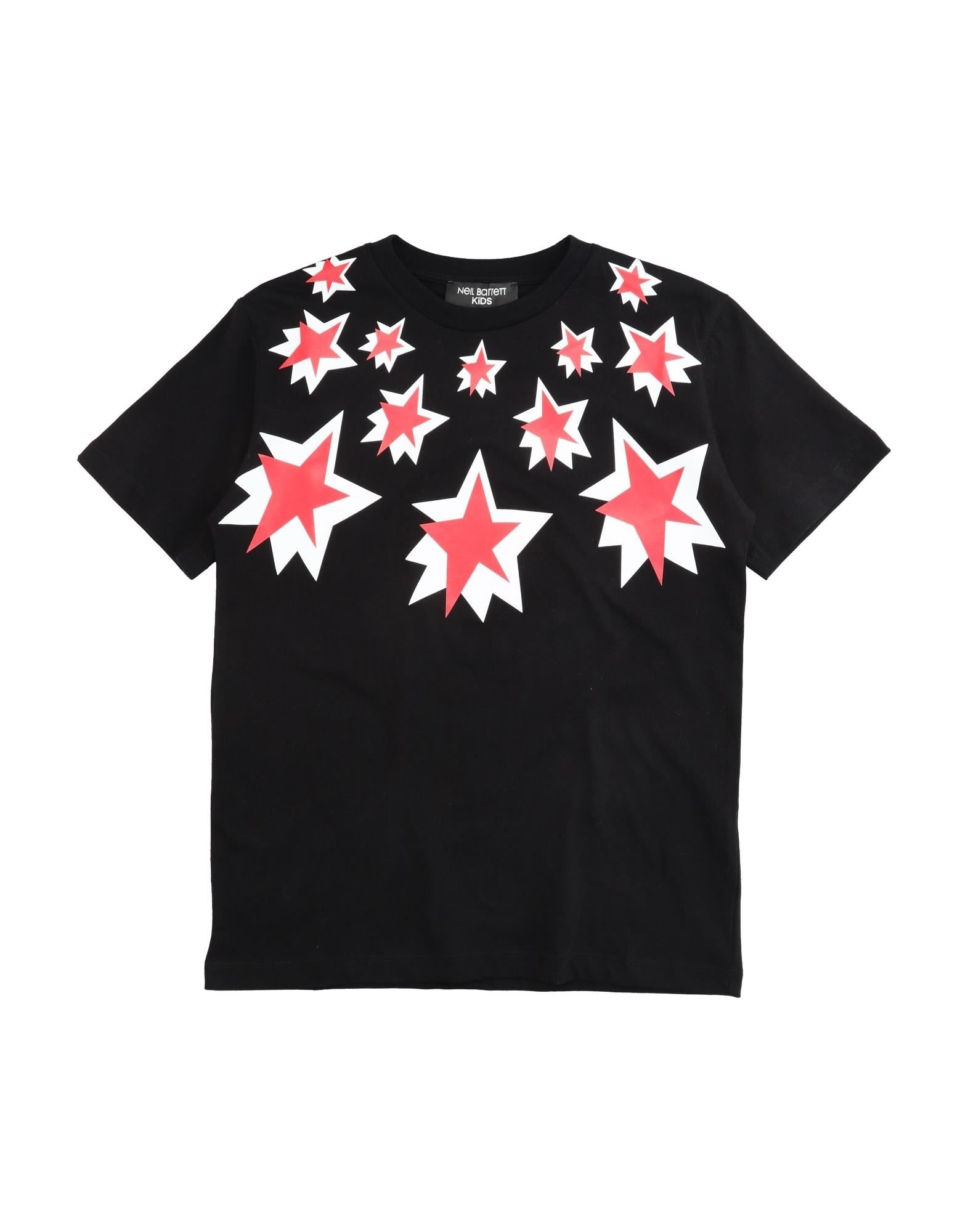 Neil Barrett Kids' T-shirts In Black