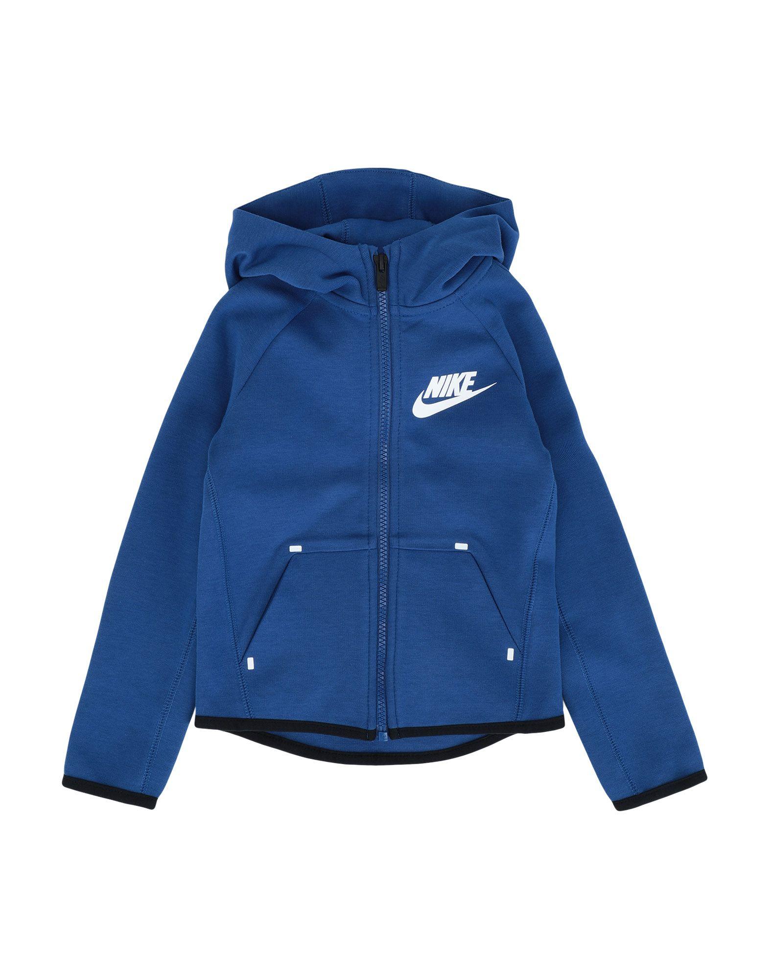 《セール開催中》NIKE ボーイズ 3-8 歳 スウェットシャツ ブライトブルー 4 コットン 67% / ポリエステル 33% NSW TECH FLEECE FZ ESSENTIALS