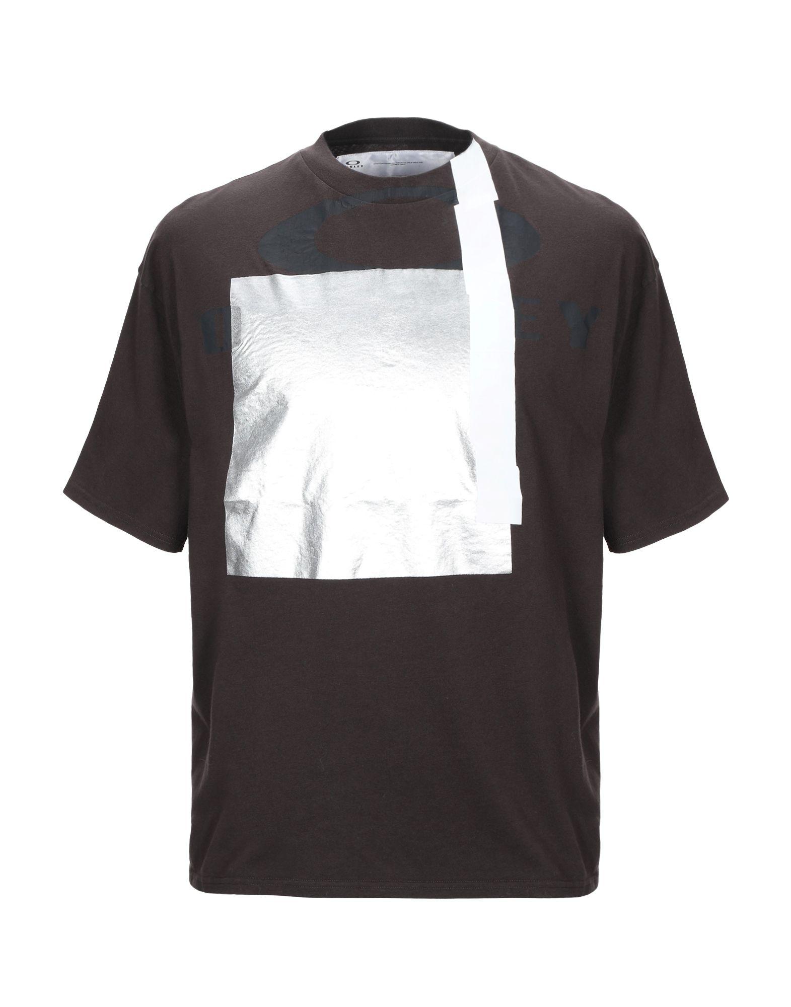 《期間限定セール中》OAKLEY メンズ T シャツ ダークブラウン S コットン 100%