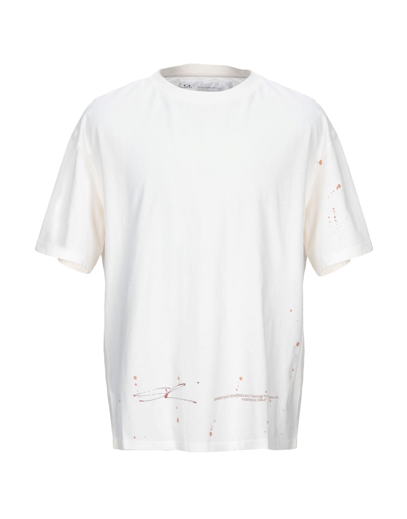 《期間限定セール中》OAKLEY メンズ T シャツ アイボリー S コットン 100%