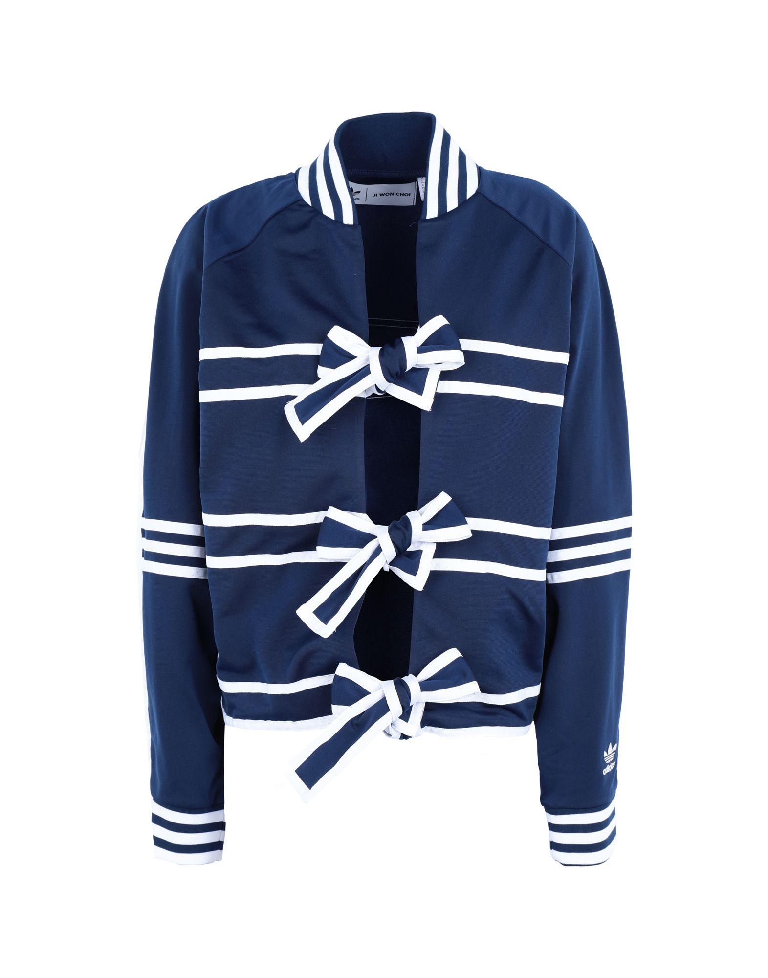 《期間限定 セール開催中》ADIDAS ORIGINALS x JI WON CHOI レディース スウェットシャツ ブルー 30 リサイクルポリエステル 100% TRACKTOP