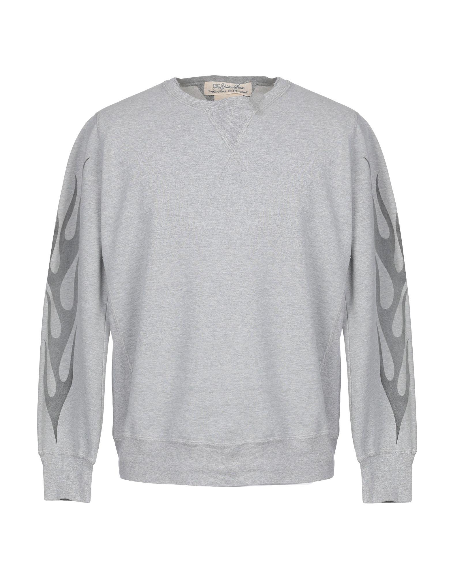 《期間限定 セール開催中》REMI RELIEF メンズ スウェットシャツ ライトグレー M コットン 100%