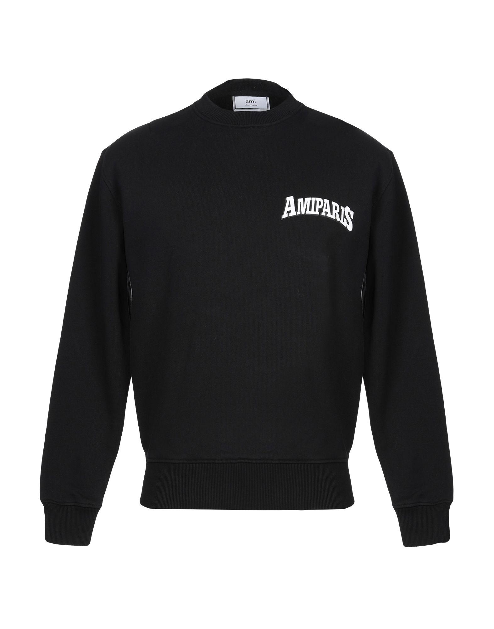 《期間限定セール開催中!》AMI ALEXANDRE MATTIUSSI メンズ スウェットシャツ ブラック S コットン 100%