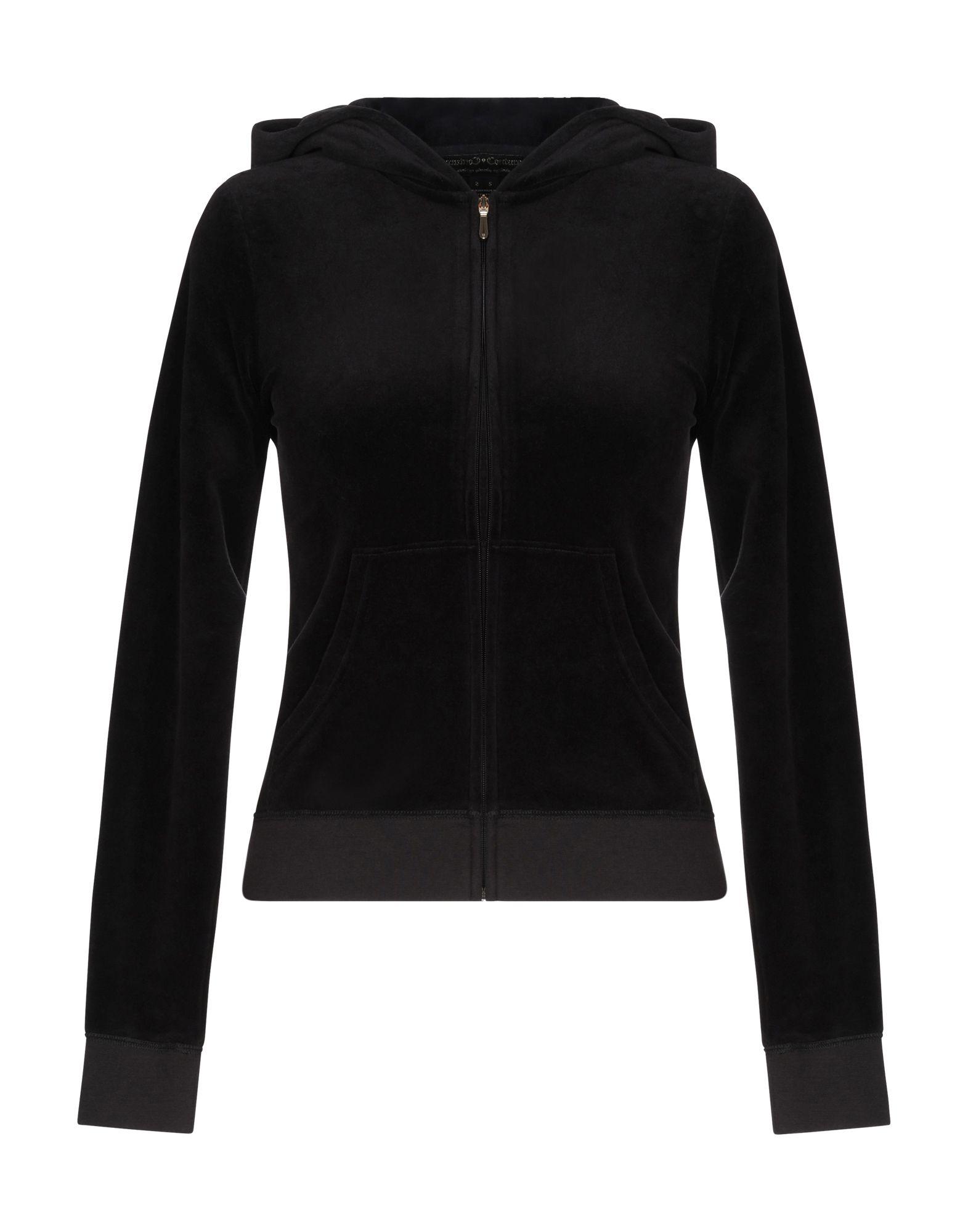 《送料無料》JUICY COUTURE レディース スウェットシャツ ブラック XS コットン 78% / ポリエステル 22%