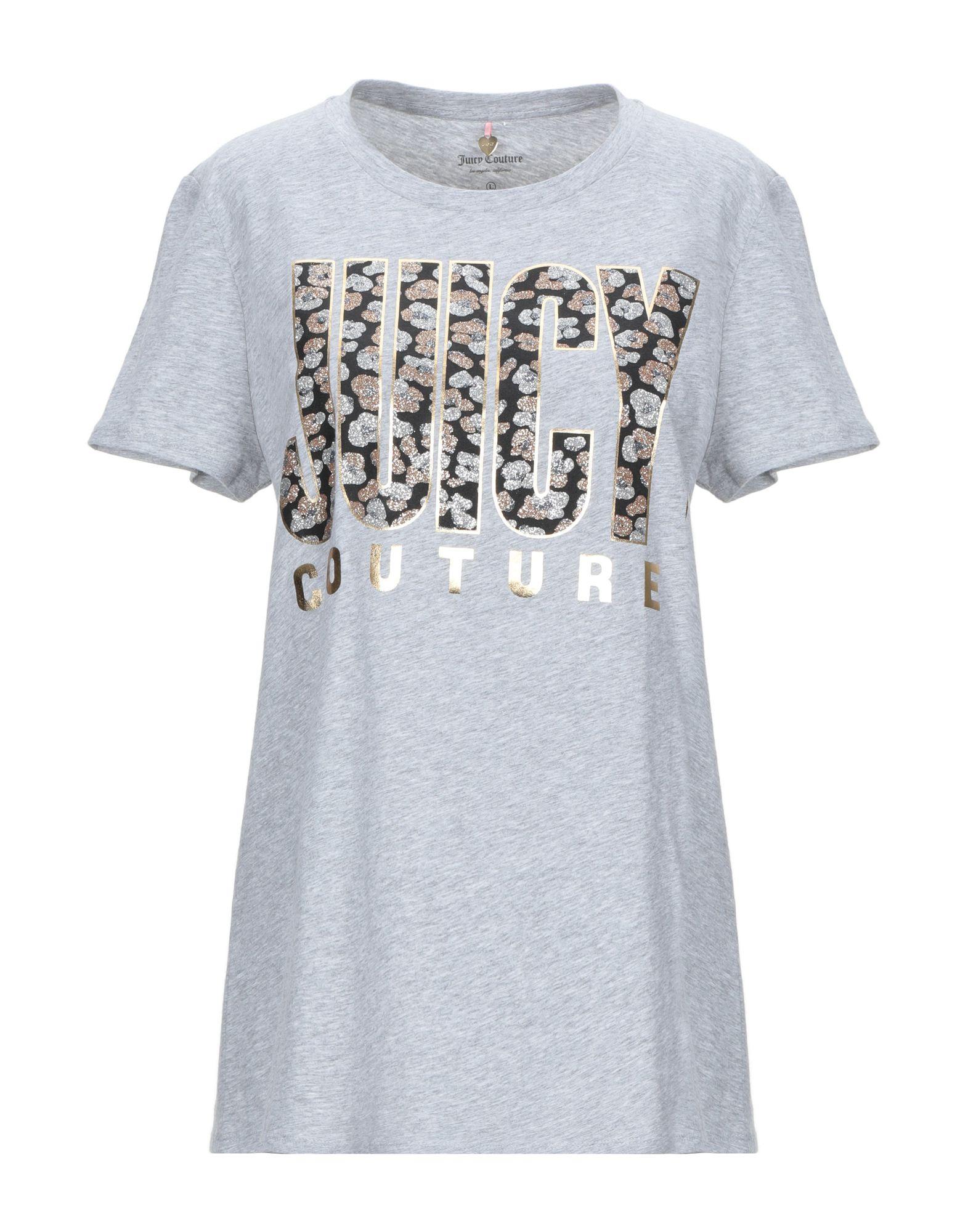 《送料無料》JUICY COUTURE レディース T シャツ グレー XS コットン 100%