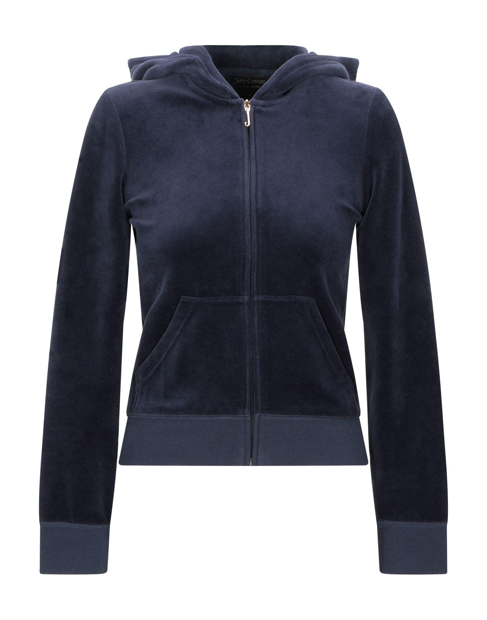 《送料無料》JUICY COUTURE レディース スウェットシャツ ダークブルー XS コットン 78% / ポリエステル 22%