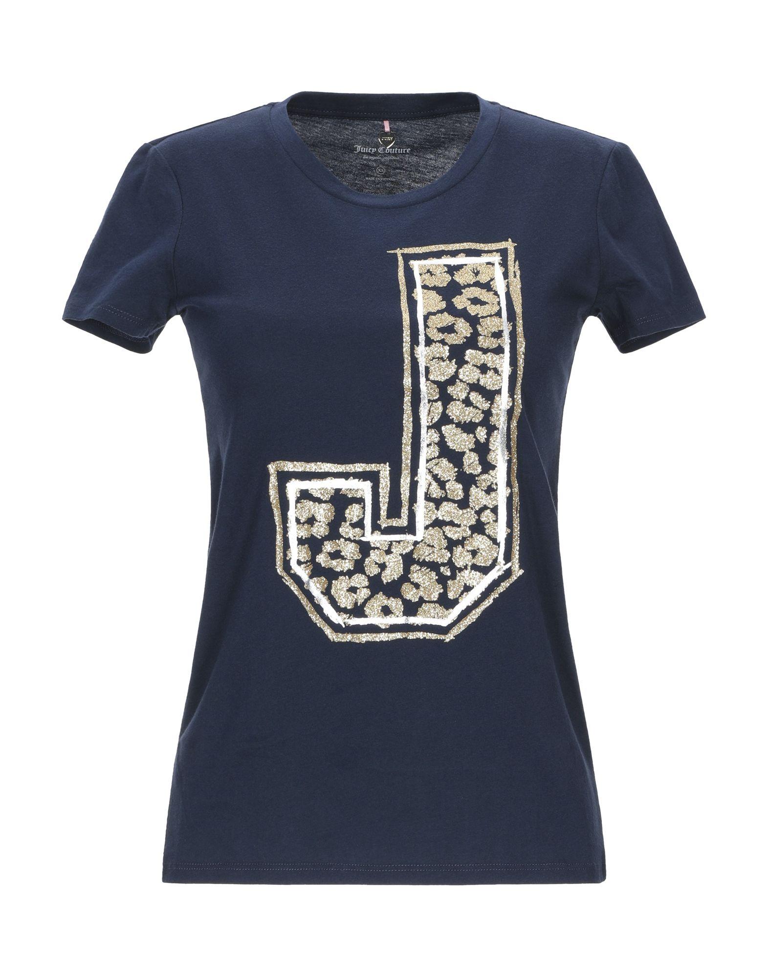 《送料無料》JUICY COUTURE レディース T シャツ ダークブルー XS コットン 100%