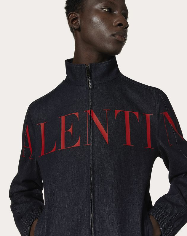 DENIM BLOUSON WITH VALENTINO PRINT
